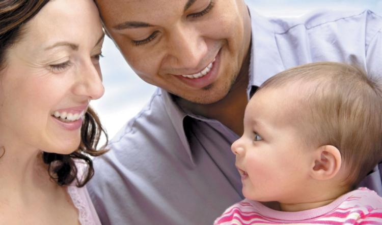 Hispanic Family With Baby