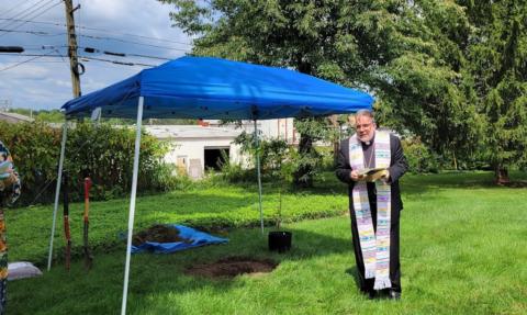 Catholic Center tree planting